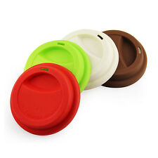 Silicone Lids/Cap Drinking Coffee Tea Reusable bowl Cover Lids Cup Mug Cover *4