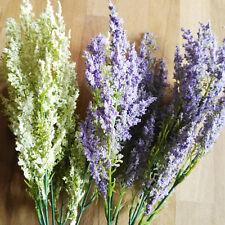 2 x  Erika Lila Flieder lila 7 Stiele Pflanze Blume Strauß Busch Kunstblume