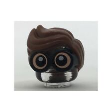LEGO - Minifig, Hair Combo, Large Thick Glasses w/ Reddish Brown Hair (Robin)