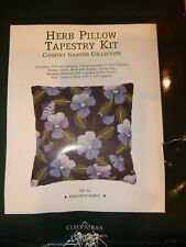 """Country Garden Collection Tapestry Kit Needlepoint Pansy 10""""x10"""" Partially Done"""