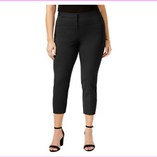 Alfani Womens White Comfort Waist Solid Casual Capri Pants Plus 24W BHFO 0047