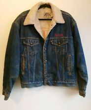Men's Vintage Levis Blue Denim Sherpa Lined Trucker Jacket Size Medium M Borg