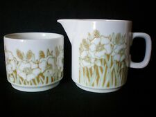 Hornsea Fleur Milk Jug Pourer & Sugar Bowl Dish Very Good Vintage Retro