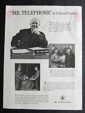 1952 Bell Telephone Ad Photo Endorsement Tom Williams of Prince Frederick MD