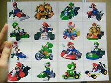 SUPER MARIO KART 16 BIG STICKER LUIGI BOWSER TOAD YOSHI