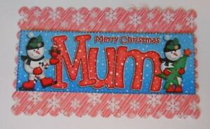 PACK 2 MERRY CHRISTMAS MUM TOPPER EMBELLISHMENTS  FOR CARDS AND CRAFTS