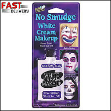 White Face Paint Cream Makeup Non Smudge Fancy Dress Halloween Stage Quick Dry