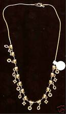 Goldplate BEADS  Necklace #32 15inch total length