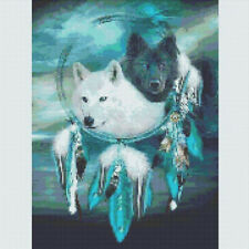 5D *Diamond Painting Full Drill Cross Kits Embroidery Wolf Dream Catcher Mural