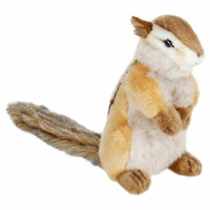 "NEW with Tag - Chipmunk Plush Stuffed Animal 7"" Realistic by Hansa Toys 3828"