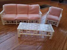 Barbie Plastic Bamboo Patio Furniture, 1985