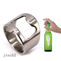 Fashion Cool Mens Stainless Steel Rings for Men Novelty Bottle Opener Size 7-11