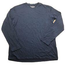 Wool & Prince Mens Long Sleeve Merino Blend Top Blue EUC N
