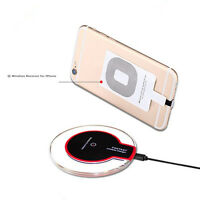 "Wireless Charger Kit for iPhone 6 6s 4.7"" Qi Charging Dock / Pad + Receiver USA"