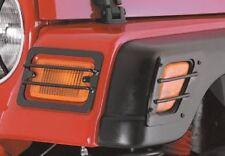Jeep Wrangler TJ Euro Side Marker Turn Signal Guards Black 1997-2006 5670