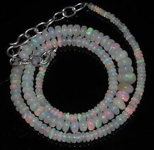 """52 Ctw 1Necklace 2to6.5mm16""""Beads Natural Genuine Ethiopian Welo Fire Opal RR788"""
