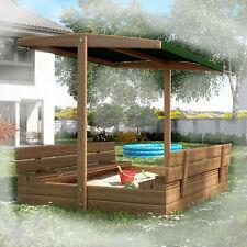 Sandkasten Sandbox SANDWICH MIT SCHUBLADEN + GESCHLOSSENEM SCHILD 120cm grün