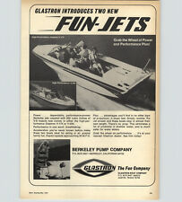 1970 PAPER AD Glastron High Performance Speed Motor Boat Fun Jets
