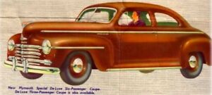 1946-1948 Plymouth P-15 Coupe  Complete Master Weatherstrip Kit!