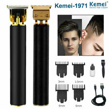 KEMEI Electric Hair Clippers Grooming Cordless Cutting T-Blade Trimmer Clippers