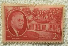 Franklin D Roosevelt little White House Warm Springs stamp 2 cent 1945 mint.