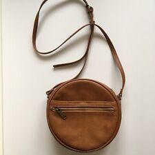 Antik Kraft Round Crossbody Brown Zipper Close Bag Purse