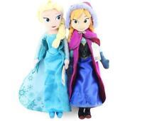 New Disney Frozen Elsa&Anna princess stuffed Soft plush toy doll for Kids Gift .