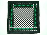 Masonic Pocket Square with Freemasons SC&G (Green)