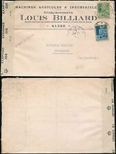 ALGERIA ADVERTISING WW2 CENSORED ENVELOPE LOUIS BILLIARD AIRMAIL