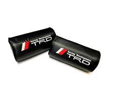 2Pcs TRD Carbon Fiber Car Rest Cushion Seat Headrest Neck Pillow Toyota