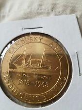 "Sandusky Area Sesquicentennial Token 1818-1968-""Walk-In-The-Water"" Sandusky, OH"