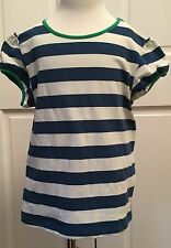 Girls Tween MATILDA JANE Good Hart Paddle Boat Striped Tee Shirt Top Size 8 EUC
