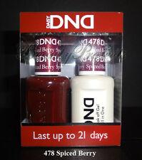 DND Daisy Soak Off Gel Polish Spiced Berry 478 full size 15ml LED/UV gel duo