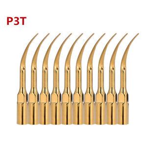 10pcs Gold P3T Dental EMS WOODPECKER Piezo Scaler Tip for Ultrasonic Handpiece