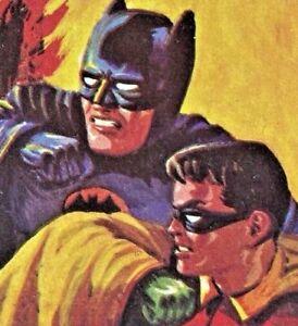 VINTAGE ORIGINAL A & BC BATMAN BLACK BATS BUBBLE GUM TRADING CARD #21 EXC!!!