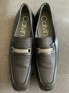 Calvin Klein Gino Dress Shoes Loafers Black Men's US 9.5