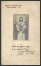 Holy card lamina antique de Jesus santino image pieuse estampa