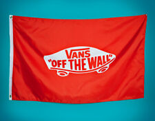 VANS - Off The Wall LOGO FLAG (NEW) 30 x 48 BANNER Metal Grommets RED Free Ship!