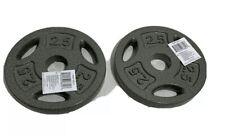 "CAP 2.5 LB Weight Plates 1"" Inch Grip Set of 2 (5 LB Total)"