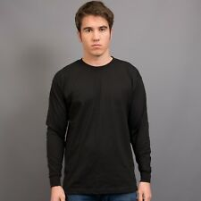 t-shirt long sleeved 100% cotton combed 200 gsm L/S tee TSHIRT Au mens sizes