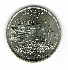 2008-P Brilliant Uncirculated US Arizona 48TH State Quarter Coin!