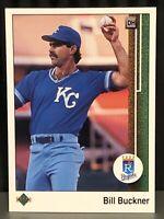 1989 Upper Deck Bill Buckner Baseball Card Kansas City Royals Mint #639 KC MLB