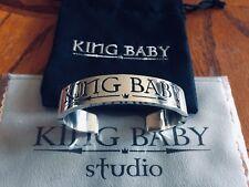 "King Baby Star Sterling Silver ""King Baby"" Cuff Bracelet"