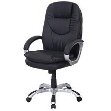 Black PU Leather High Back Office Chair Executive Ergonomic Computer Desk Task