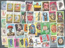 Masks- 100 all different stamps  collection-most unusual collection