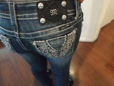 MISS ME WOMENS JEANS STRAIGHT TAG: 27 - ACTUAL SIZE 27X31 DESIGNER