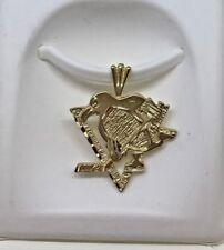 14K Pittsburgh Penguin Logo Charm 14K Gold  #1359