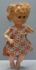 """Vintage Doll Eegee Susan Strawberry Blonde Chubby Babydoll about 12"""" Tall"""