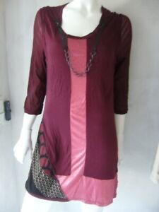 Biba-Kleid Tunique Étincelant Rouge Taille M/L Neuf