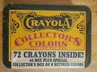 Rare 1991 Crayola Collectors Colors Limited Edition Tin 72 Crayons NEW Sealed